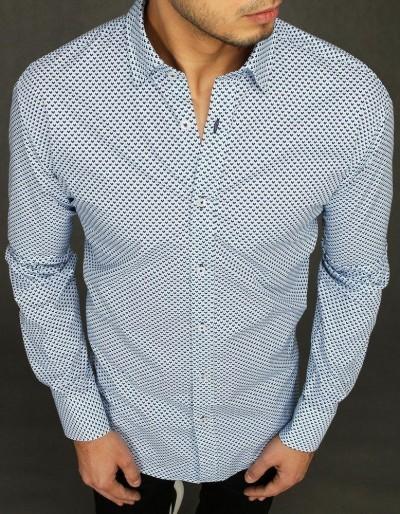 Bílé pánské tričko se vzory DX1993