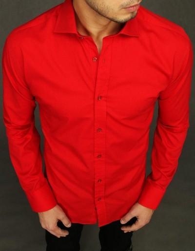 Pánské elegantní červené tričko DX1997