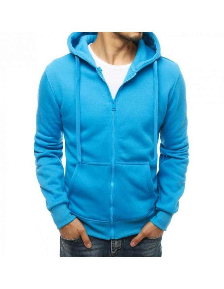Pánská mikina s kapucí modrá