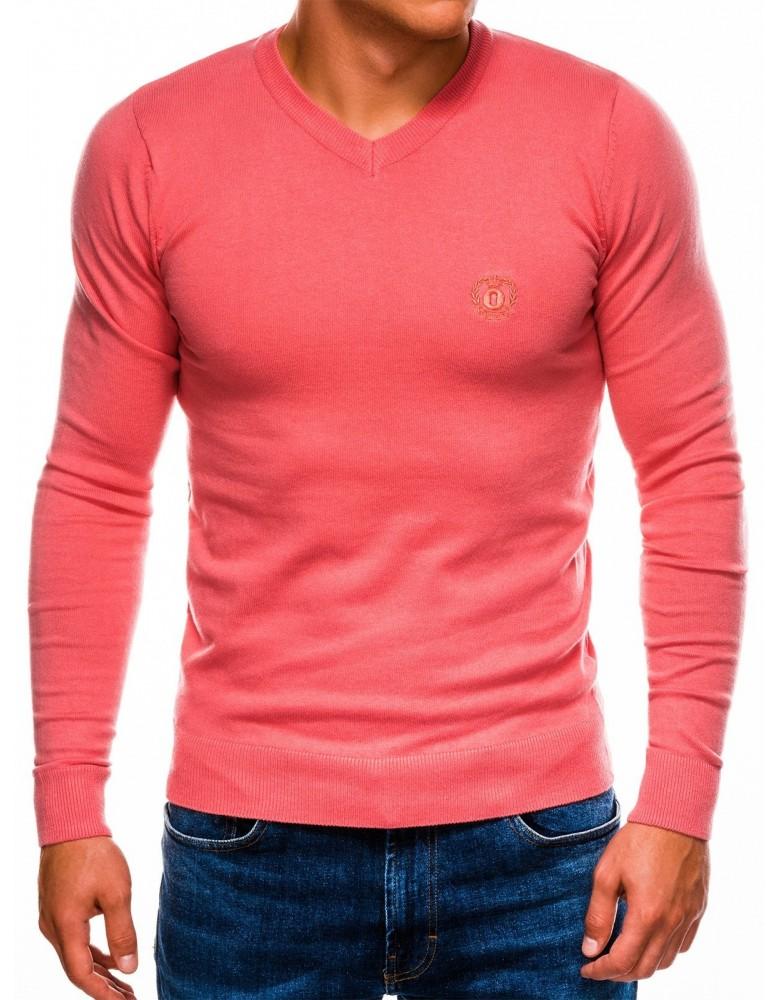 Pánská svetr v korálové barvě