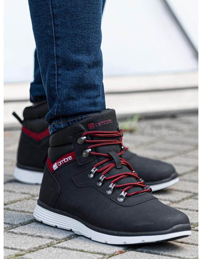 Lapače pánské zimní obuvi T312 - černé