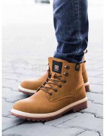 Lapače pánské zimní obuvi T314 - béžové