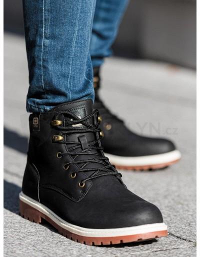 Lapače pánské zimní obuvi T314 - černé