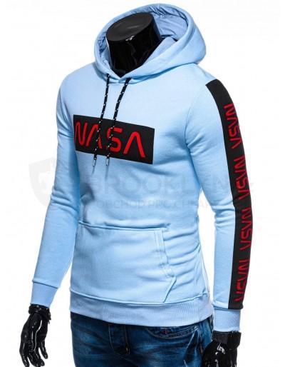 Men's hoodie B1164 - light blue