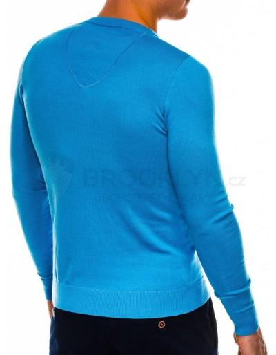 Men's sweater E74 - light blue