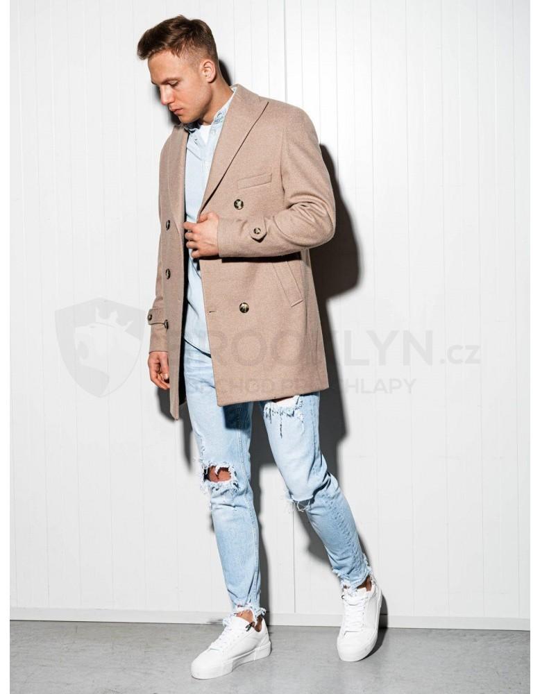 Pánský nadměrný kabát C429 - béžový
