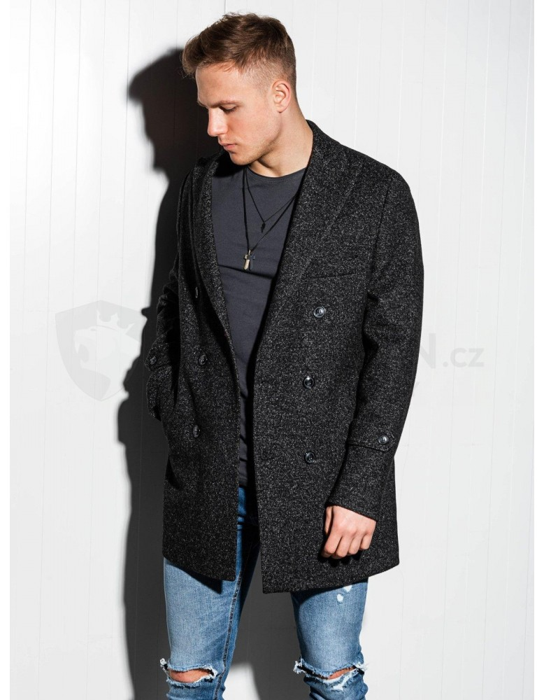 Pánský nadměrný kabát C429 - černý