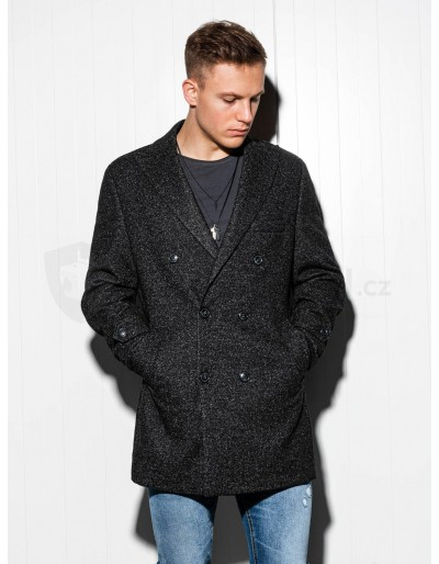 Men's oversize coat C429 - black