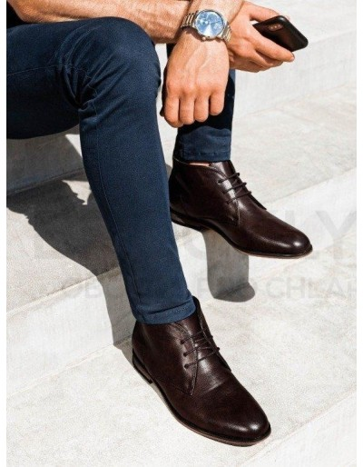 Pánská kotníková obuv T319 - hnědá