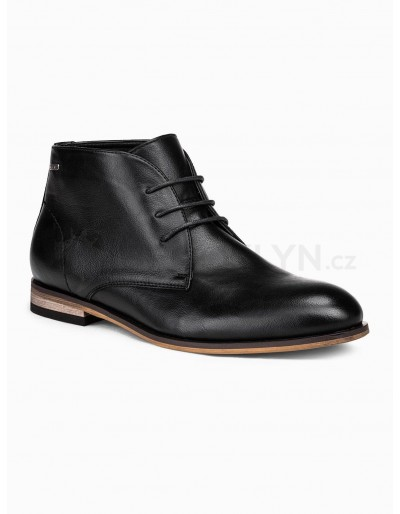 Men's ankle shoes T319 - black