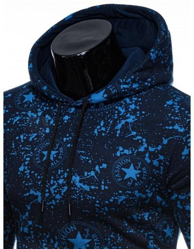 Men's hoodie B1198 - navy/blue