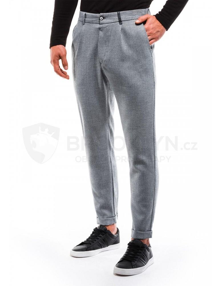 Pánské chino kalhoty P869 - šedé