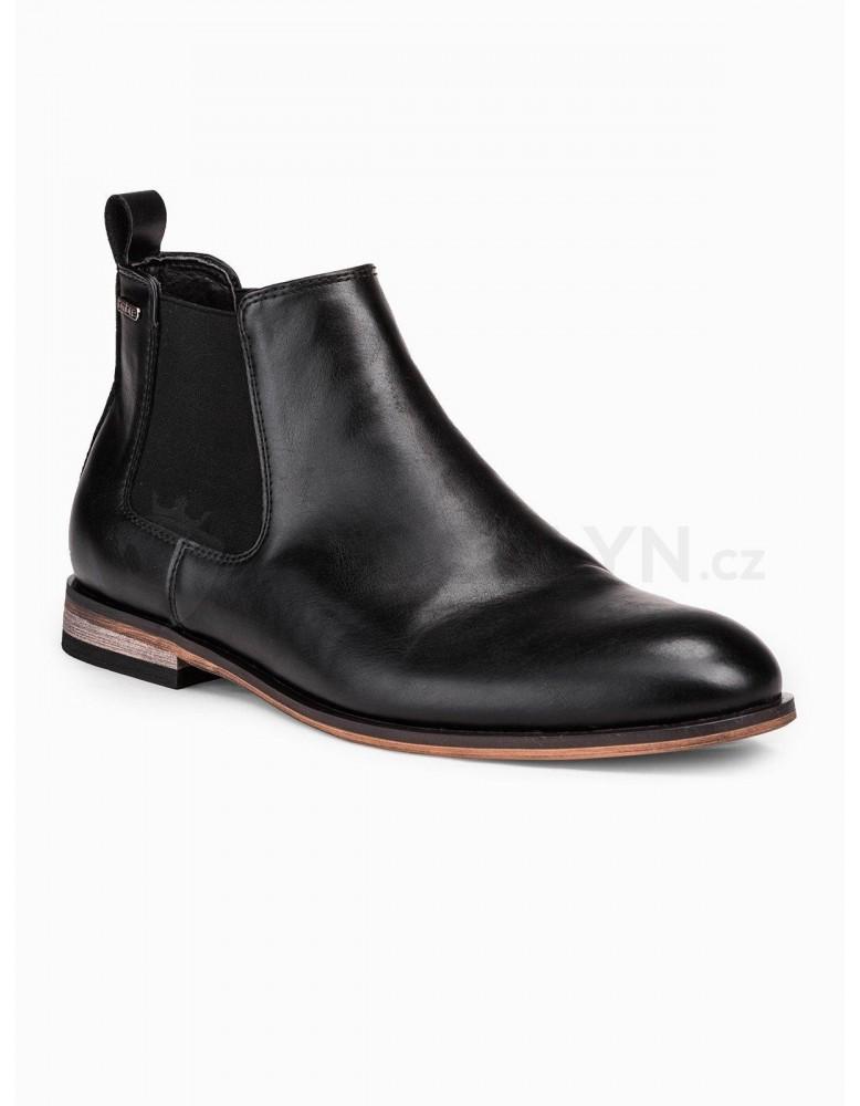 Pánské kotníkové boty T321 - černé