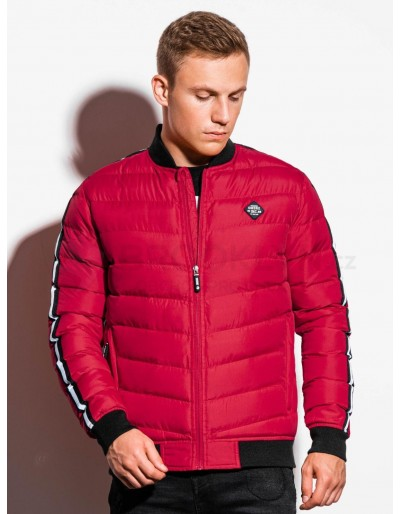 Men's mid-season quilted jacket C416 - red