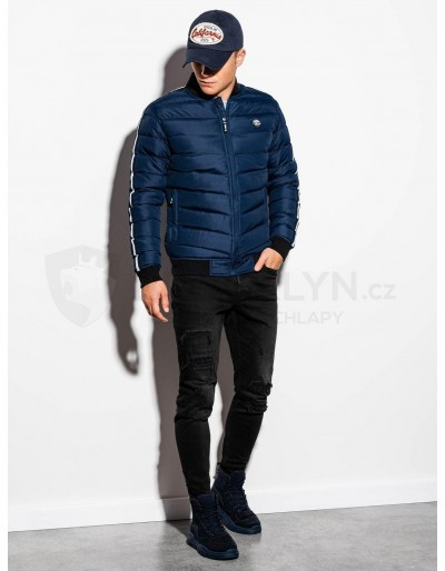 Men's mid-season quilted jacket C416 - navy