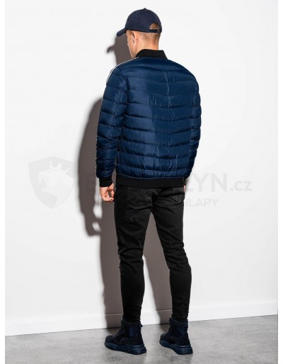 Men's mid-season quilted jacket C416 - navy