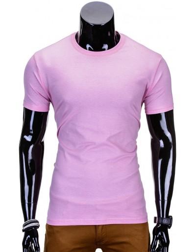 Pánské obyčejné tričko S970 - růžové