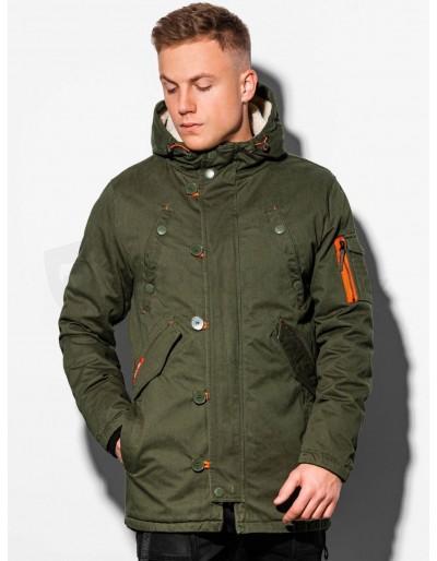 Men's winter parka C421 - green