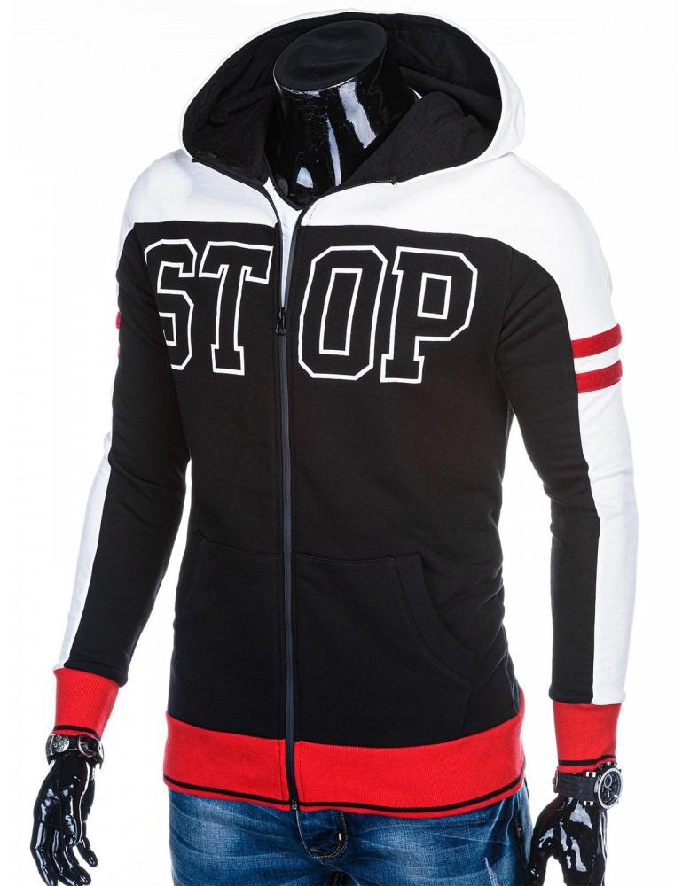 Men's zip-up sweatshirt B1037 - black
