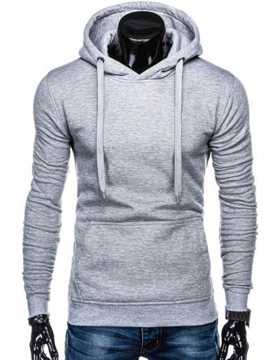 Men's hoodie B873 - grey