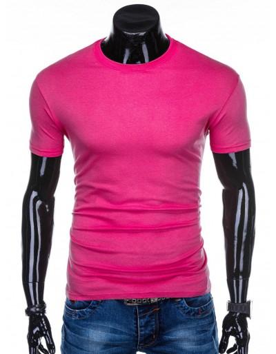 Men's plain t-shirt S970 - dark pink