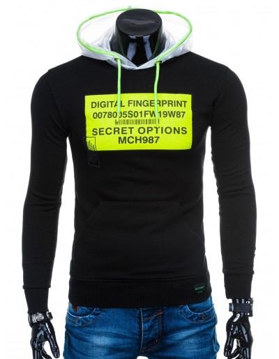 Men's hoodie B1142 - black