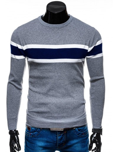 Men's sweater E157 - grey/navy
