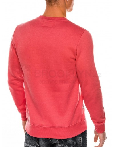 Men's printed sweatshirt B988 - coral