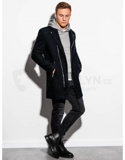 Pánský podzimní kabát C433 - černý