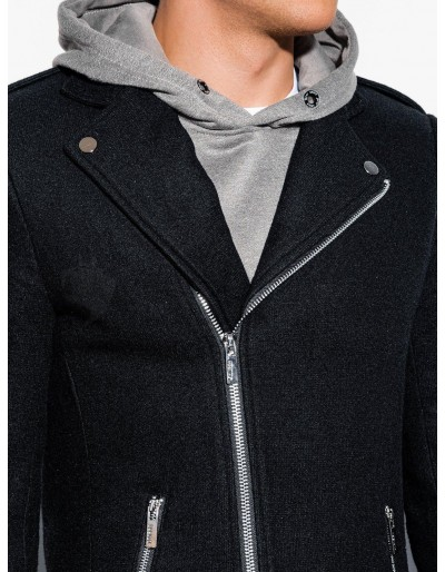 Men's autumn coat C433 - black