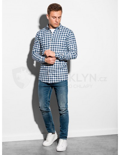 Men's shirt with long sleeves K509 - white