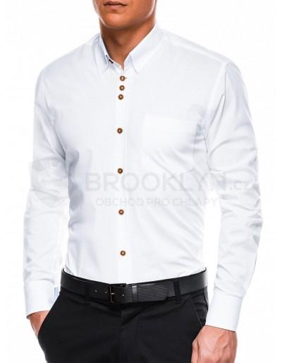 Men's elegant shirt with long sleeves K302 - white