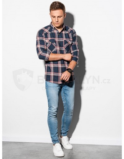 Men's shirt with long sleeves K510 - navy