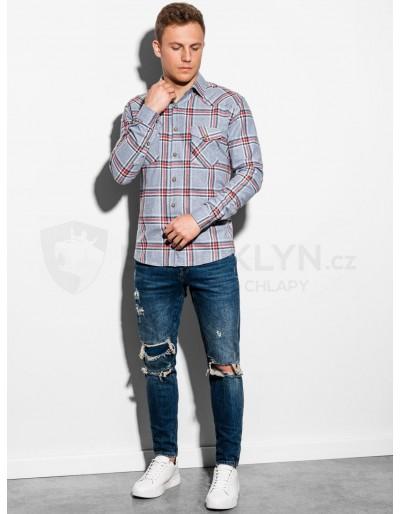 Men's shirt with long sleeves K510 - grey