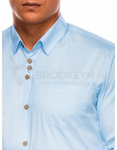 Men's elegant shirt with long sleeves K302 - light blue