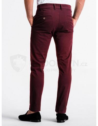 Men's pants chinos P830 - dark red