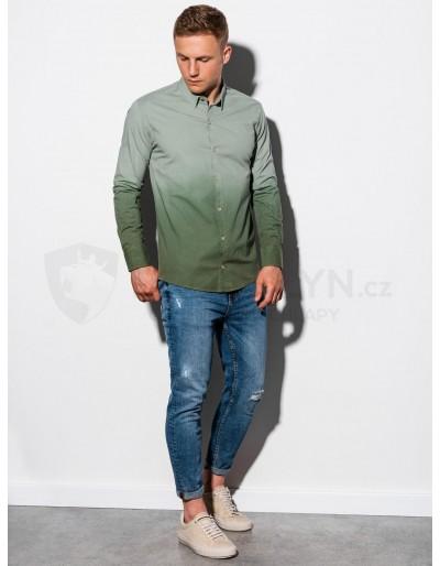 Men's shirt with long sleeves K514 - khaki