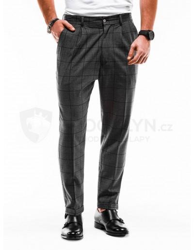 Pánské chino kalhoty P884 - tmavě šedé