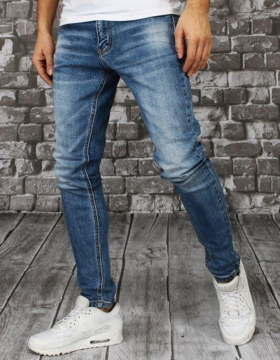 Spodnie męskie jeansowe niebieskie UX2857