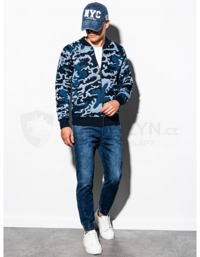 Men's bomber sweatshirt B1028 - blue/camo