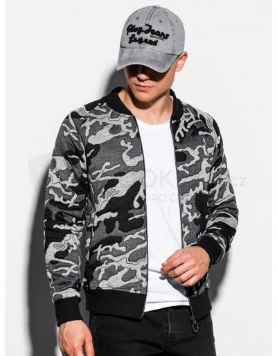 Men's bomber sweatshirt B1028 - grey/camo