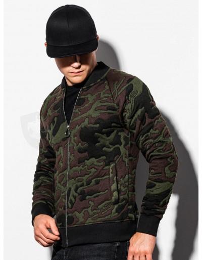 Men's bomber sweatshirt B1028 - green/camo