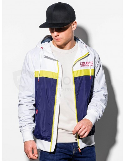 Men's mid-season jacket C438 - white/navy