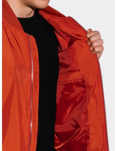 Men's mid-season bomber jacket C439 - brick