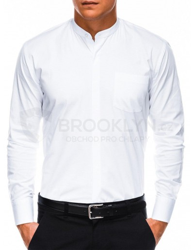 Men's elegant shirt with long sleeves K307 - white