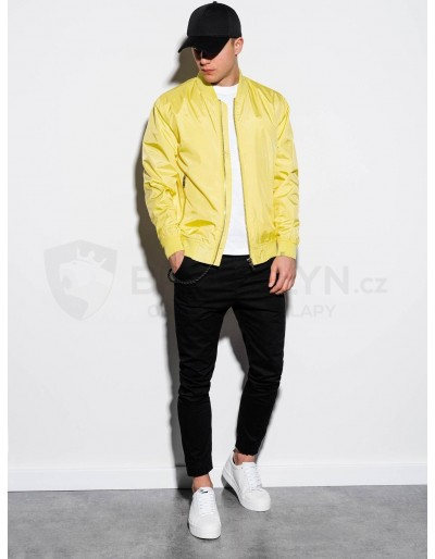 Men's mid-season bomber jacket C439 - yellow