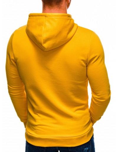 Pánská mikina s kapucí B1232 - žlutá
