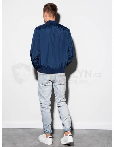 Men's autumn bomber jacket C439 - navy