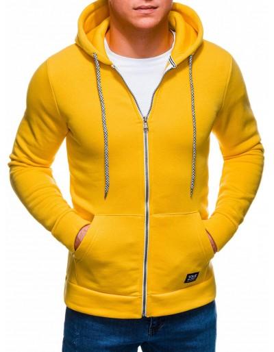 Pánská mikina na zip B1226 - žlutá