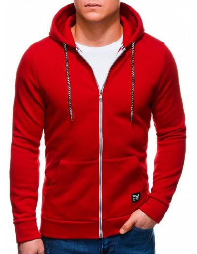 Pánská mikina na zip B1226 - červená